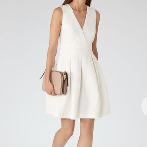 Reiss Winola Textured Fit and Flare Dress
